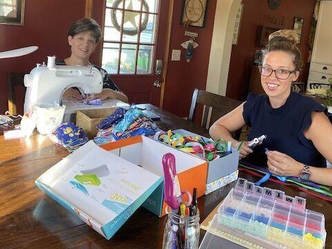 Heather Wells and Debbie Crowley