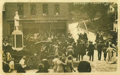 Theodore Roosevelt on a visit to Milton