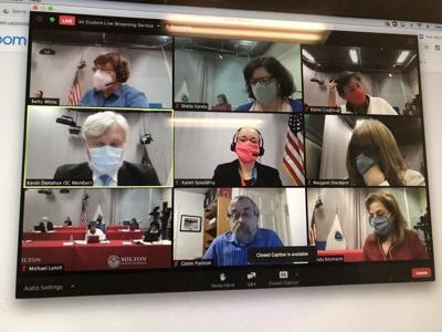 A screen-shot Aug. 26 school board meeting