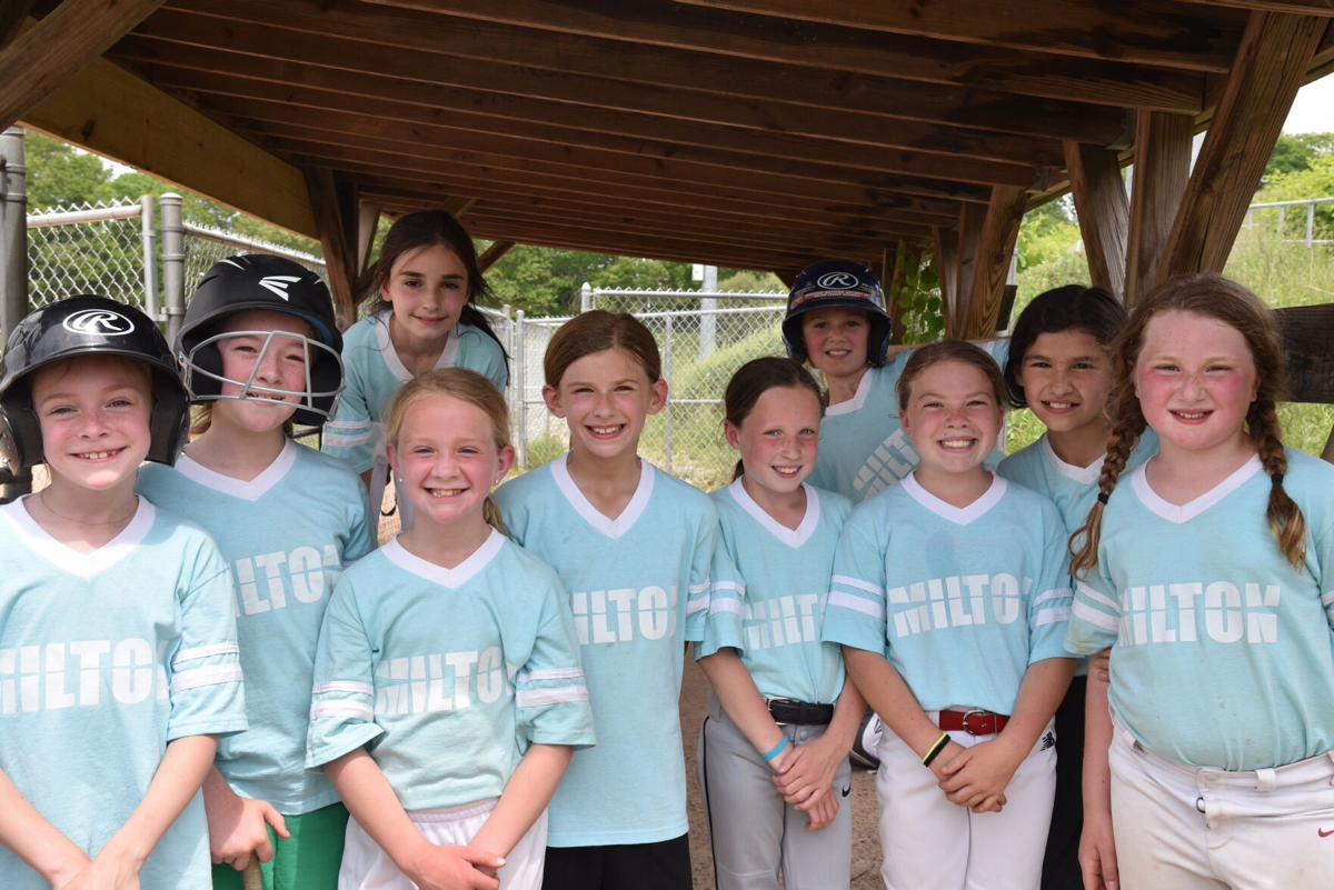 Gabby Levash and her Milton Softball Team