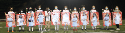Senior player night for Milton High School girls soccer