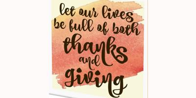 Thank for Giving