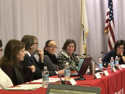 A pre-COVID-19 school board meeting