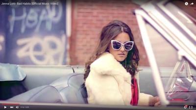 "Jenna Lotti releases smoky new video ""Bad Habits"""