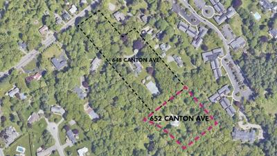 A bird's eye view of Canton Ave.'s two 40B sites