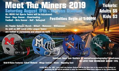 Mingo Central football Meet the Miners 2019