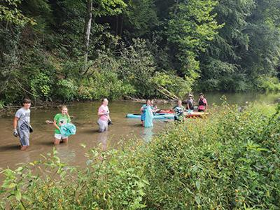 TVHS's FFA stages cleanup at Laurel Lake