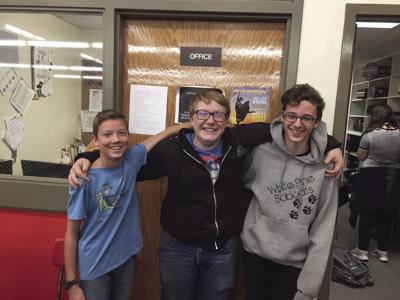Left to right: Isaac DeTemple, VictorPugh, and Jaden Krivanec.