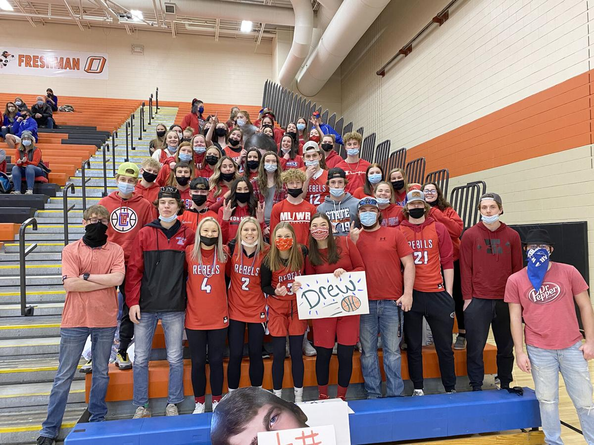 Student section shows support