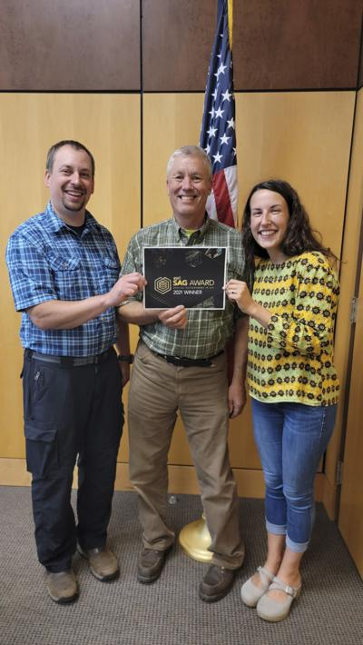 Carlton County Geographic Information Systems team wins SAG award