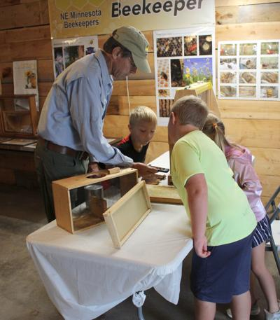 Beekeeping at the Carlton County Fair 2021