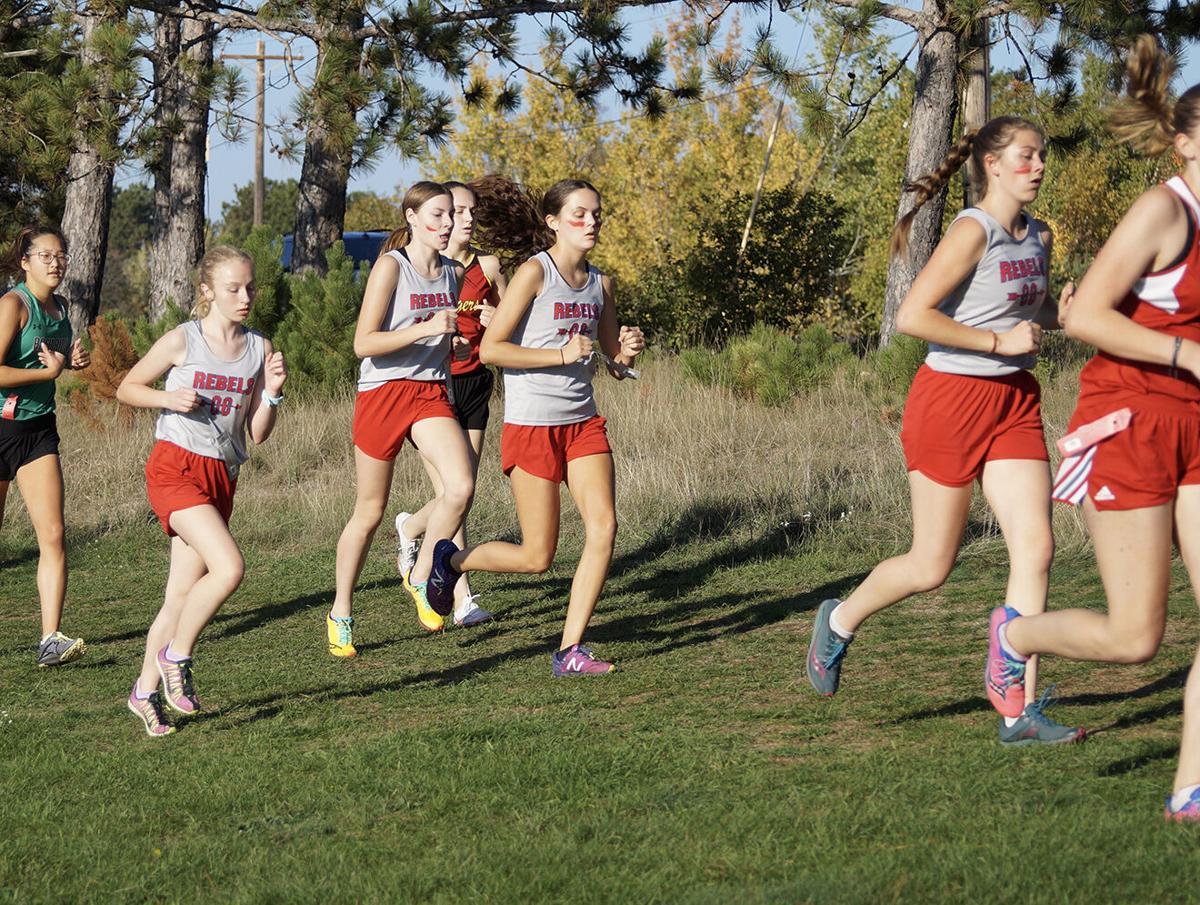 Rebel girls Cross Country runners