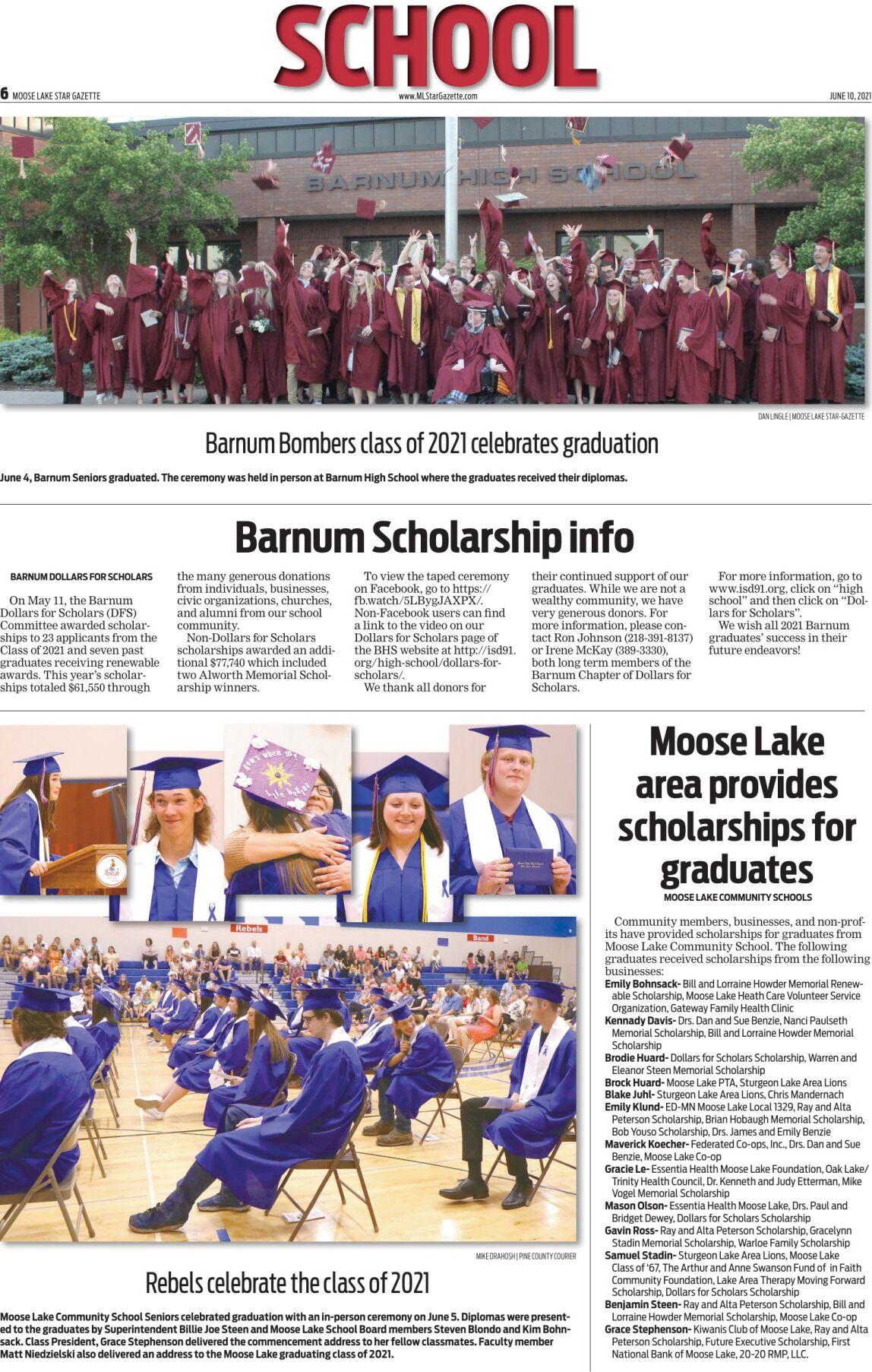 Barnum and Moose Lake Classes of 2021