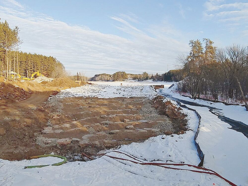 Winter construction nearing completion at Willow River Dam site