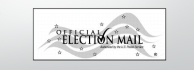 Official election materials mailing symbol