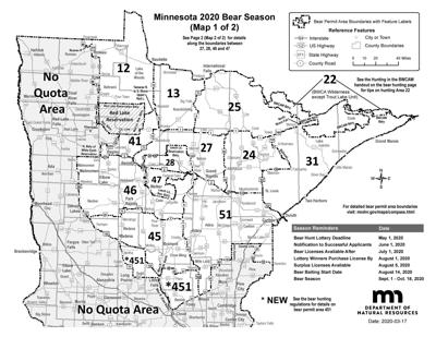 Bear baiting begins in Pine County, hunting starts Sept. 1