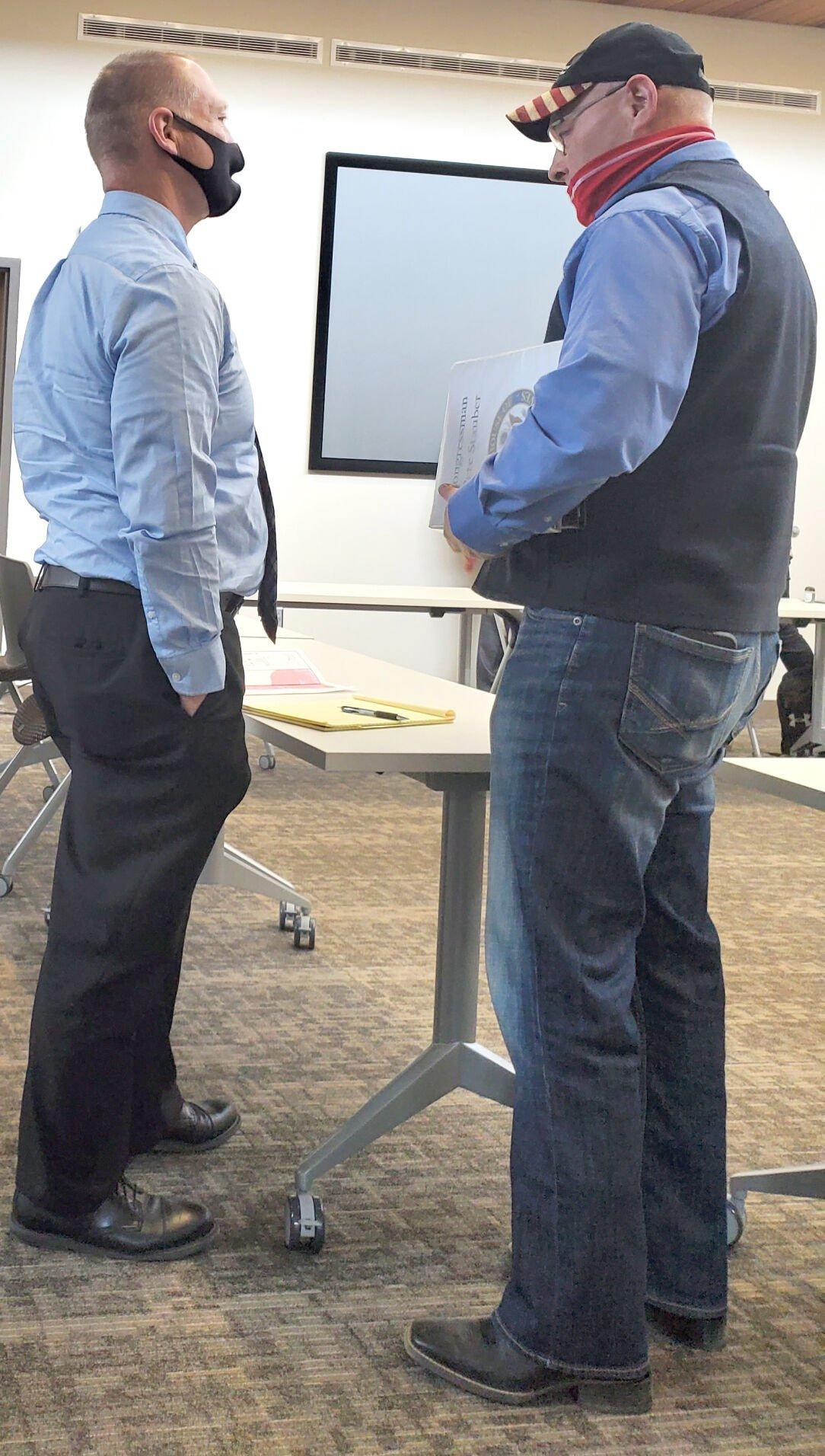 County Administrator David Minke and Congressman Pete Stauber