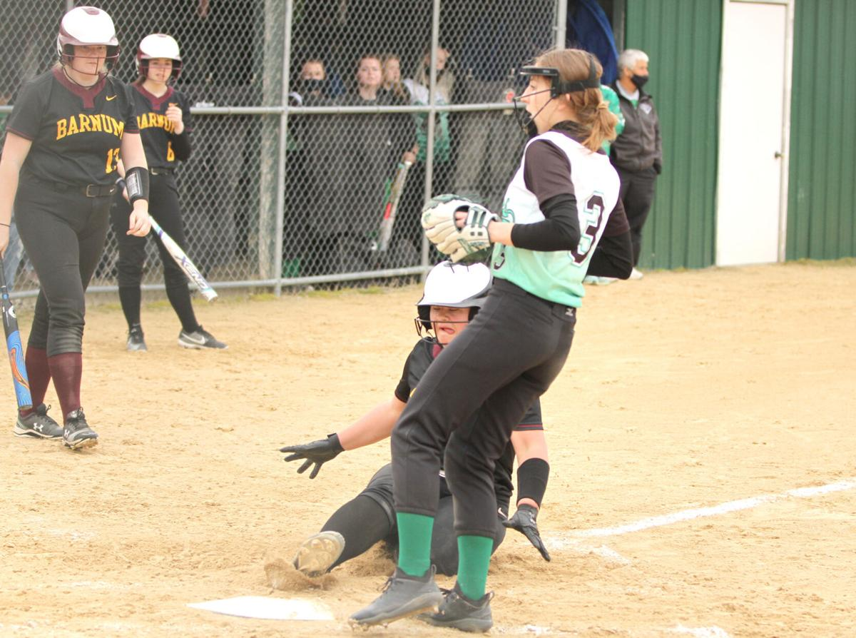 Lady Bombers defeat Lady Dragons in five innings