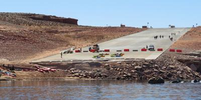 Low water levels at Lake Powell