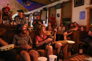 Open mic crowds at Woody's Tavern