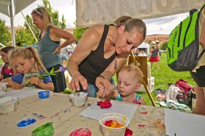 Budding artists at the Moab Arts Festival