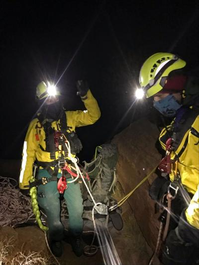Dec. 4 rescue on Castleton Tower