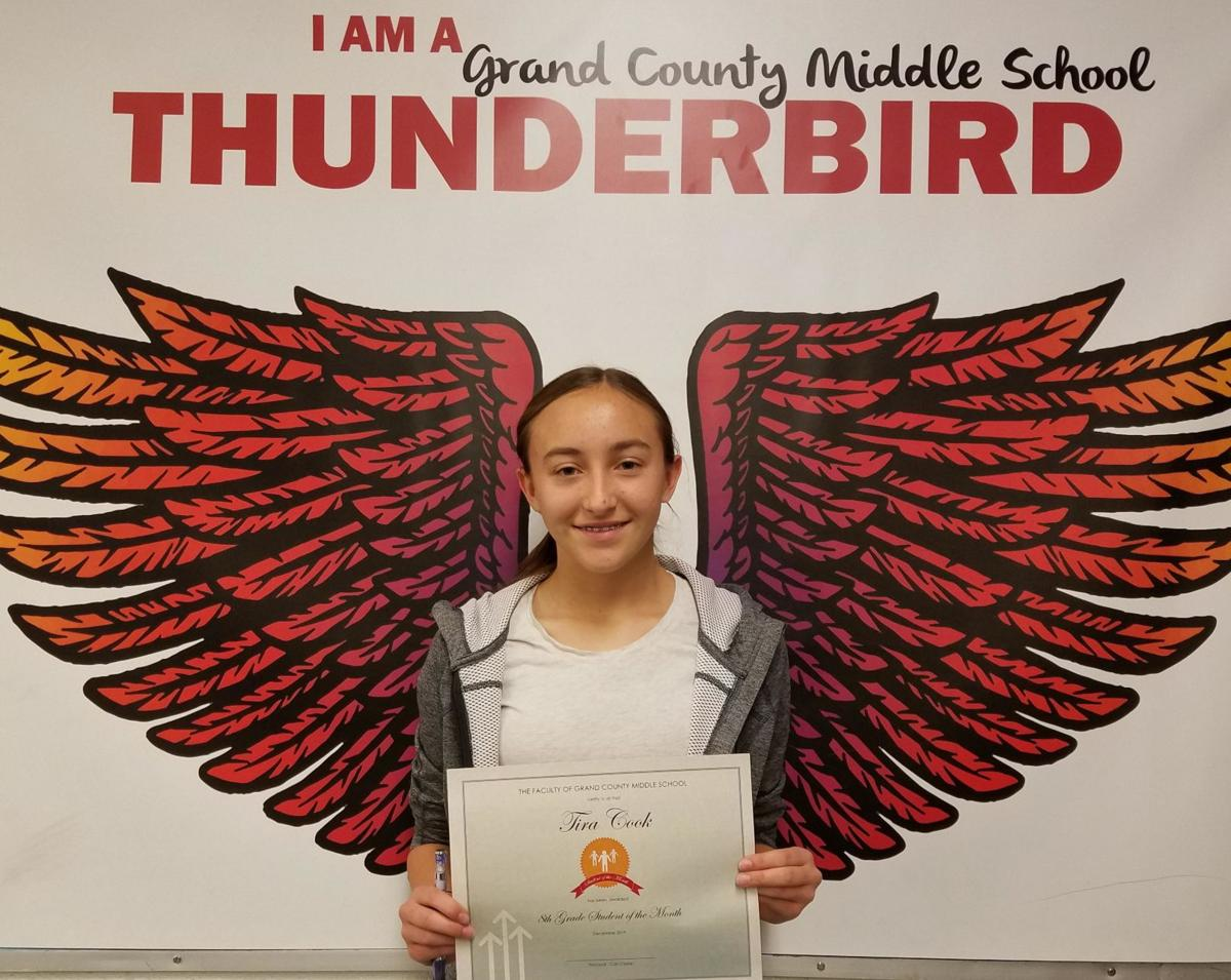 Grand County Middle School December Students of the Month