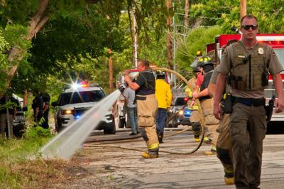Fire department responds to brush fire