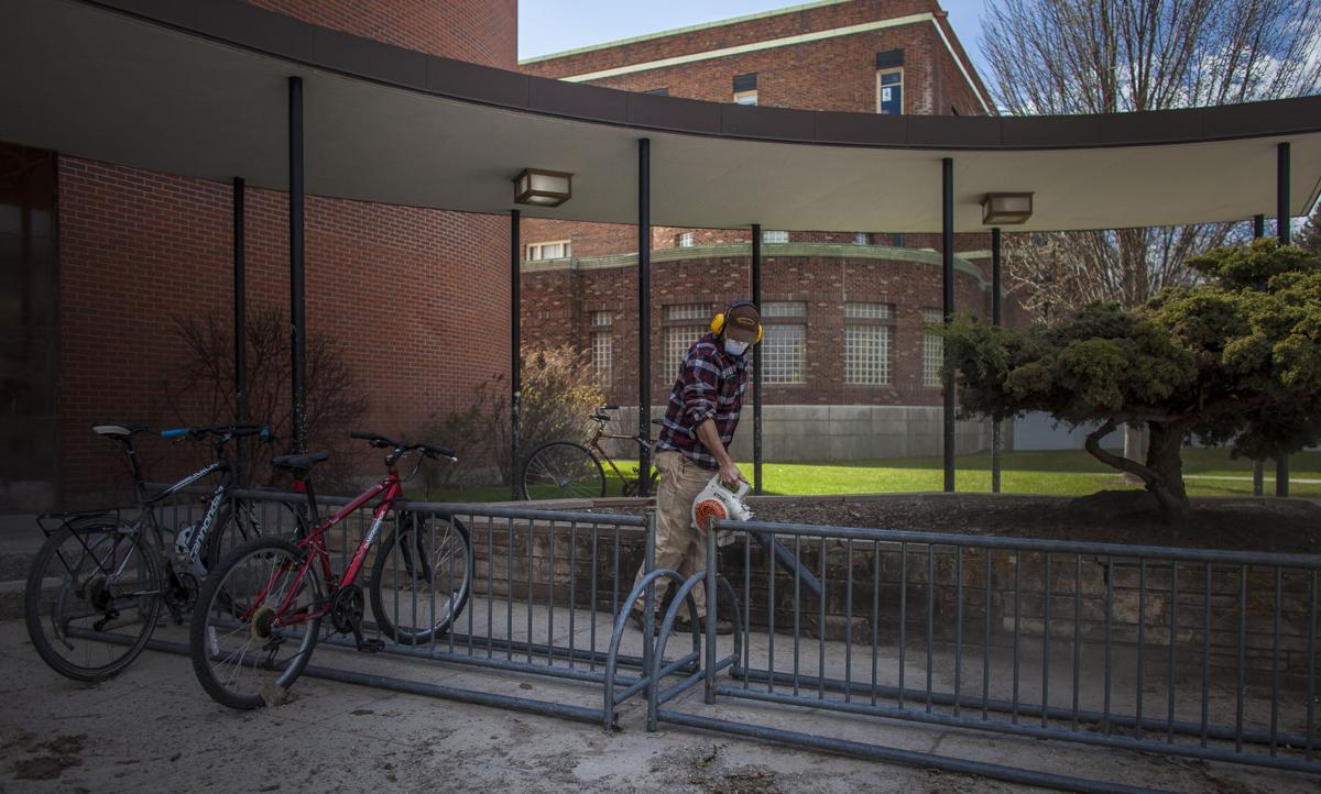 UM grounds crews racing to clean campus for graduation