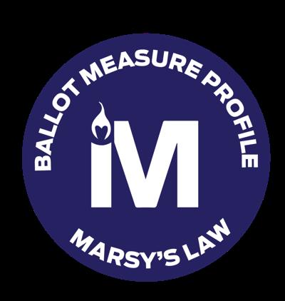 Marsy's Law ballot initiative button