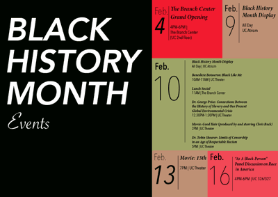 Black History Month Events Calendar