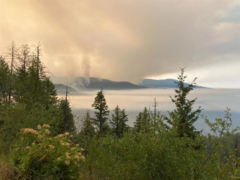 Thorne Creek Fire, looking south from Cougar Mtn
