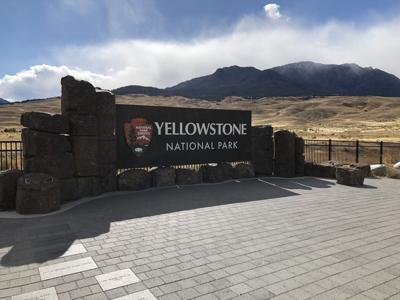 The north entrance to Yellowstone National Park in Gardiner, Montana.