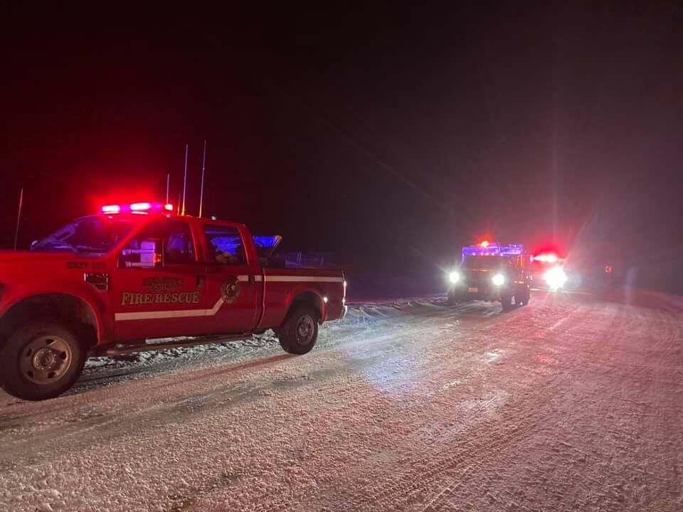 One hurt after semi rollover on highway in Meagher County