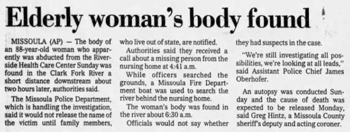 Rest Home Rapes and Homicides Part 1: The Death of Nancy Z. Lagerquist