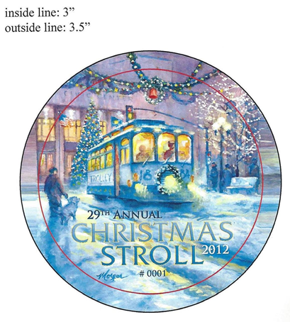 Submissions open for 38th Annual Christmas Stroll button artwork