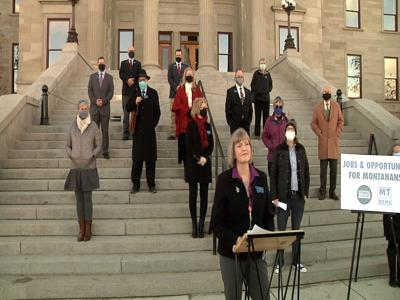 Montana Democrats hold press conference to announce new legislation