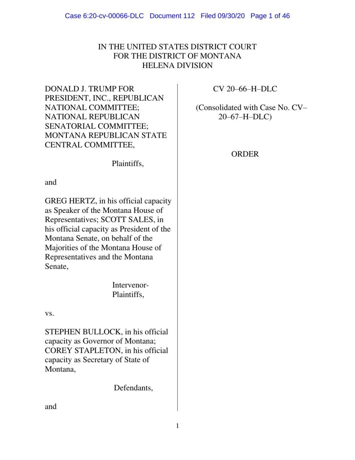 Federal Court Ruling On Ballot Challenge