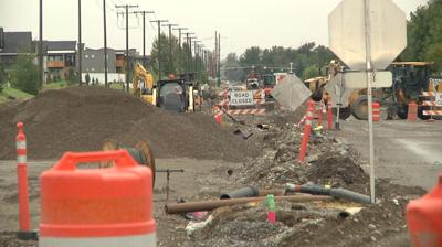 Cottonwood Road construction