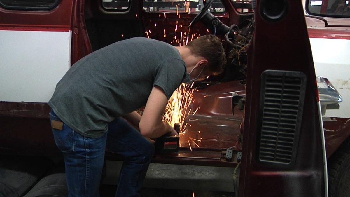 Lane Working on truck