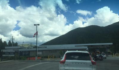 US Canada border North Idaho