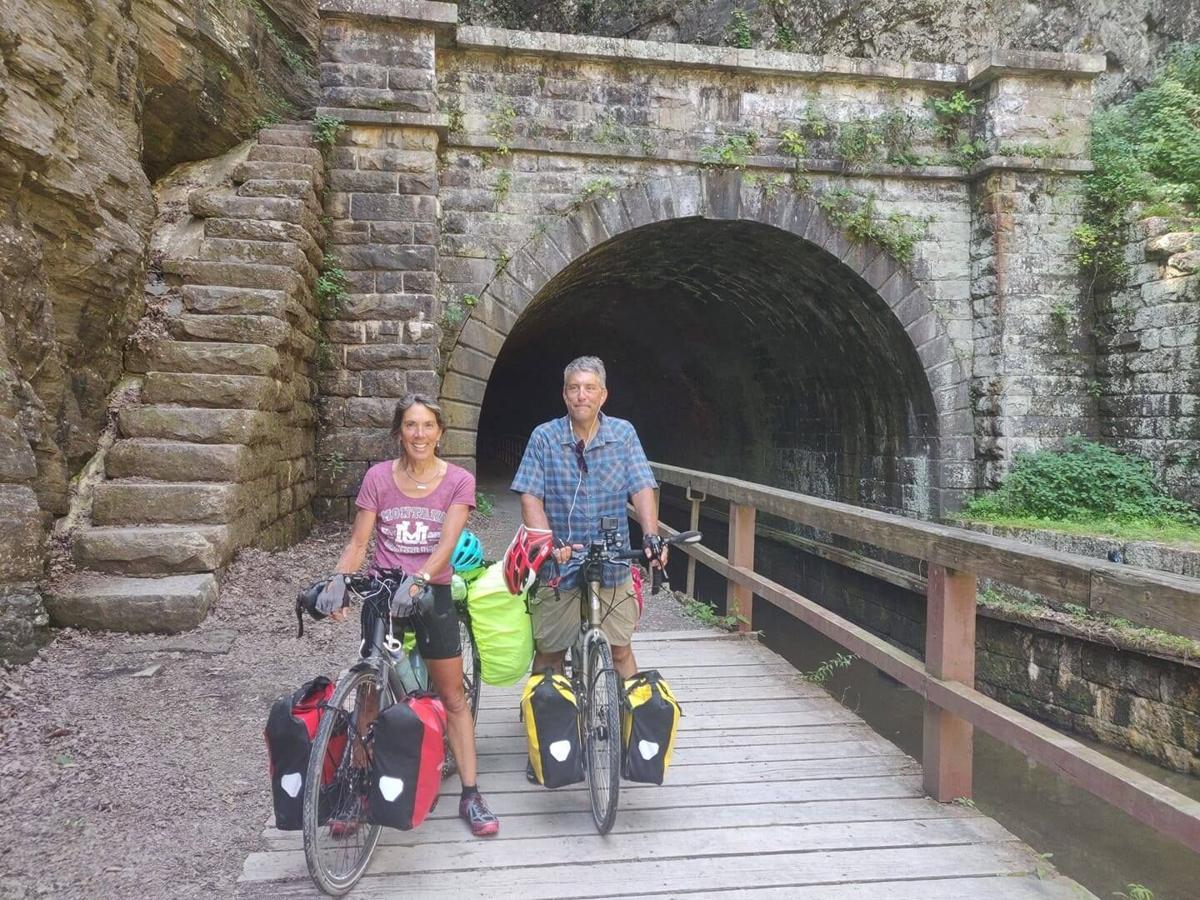 Becky and Ron Nelson Biking