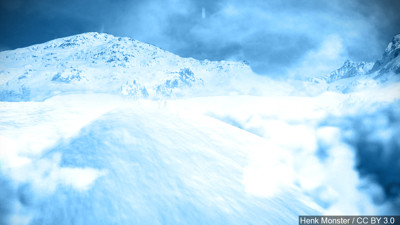 Avalanche stock image