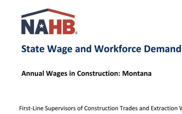 State Wage and Workforce Demand Data: Montana