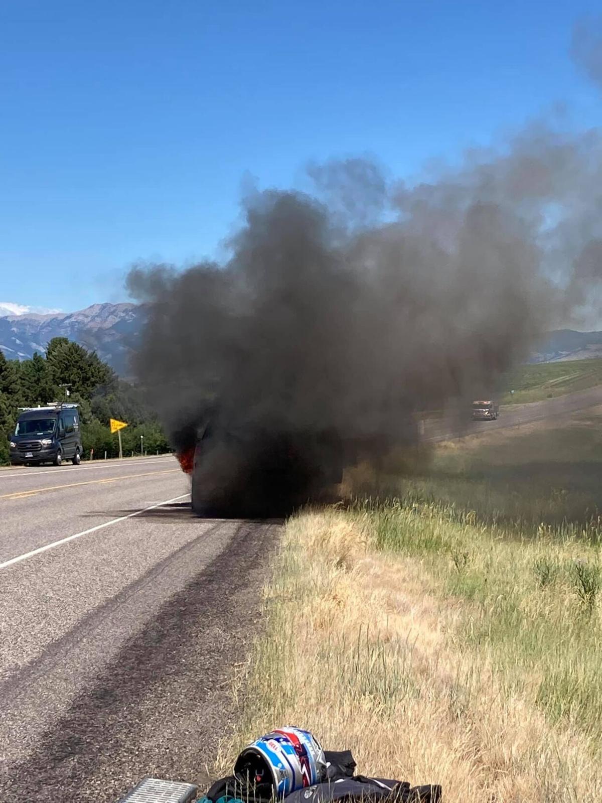 GGFD puts out blazing pickup truck
