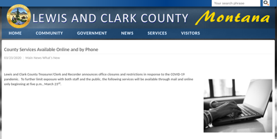 Lewis and Clark County Website