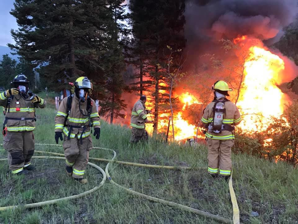 Clinton Rural Fire District knock down fire