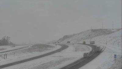 Snowfall, reduced visibility over Bozeman Pass