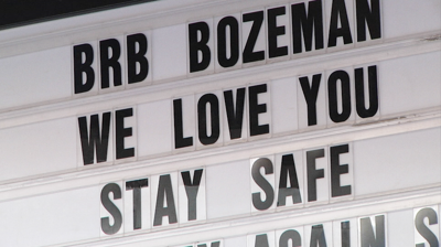 Bozeman stay safe message