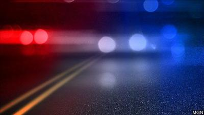 Police lights road